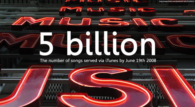 itunes hits 5 billion