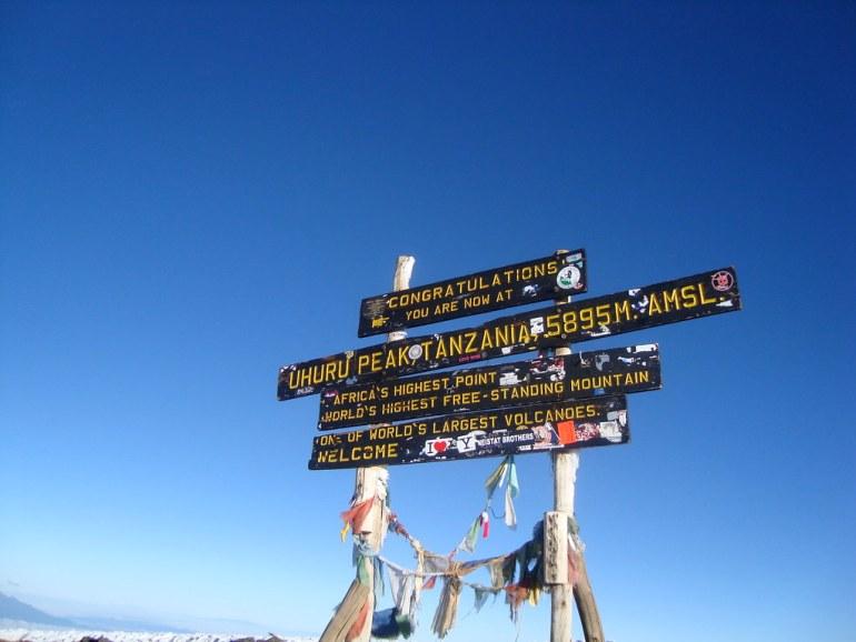 The summit of Mount Kilimanjaro