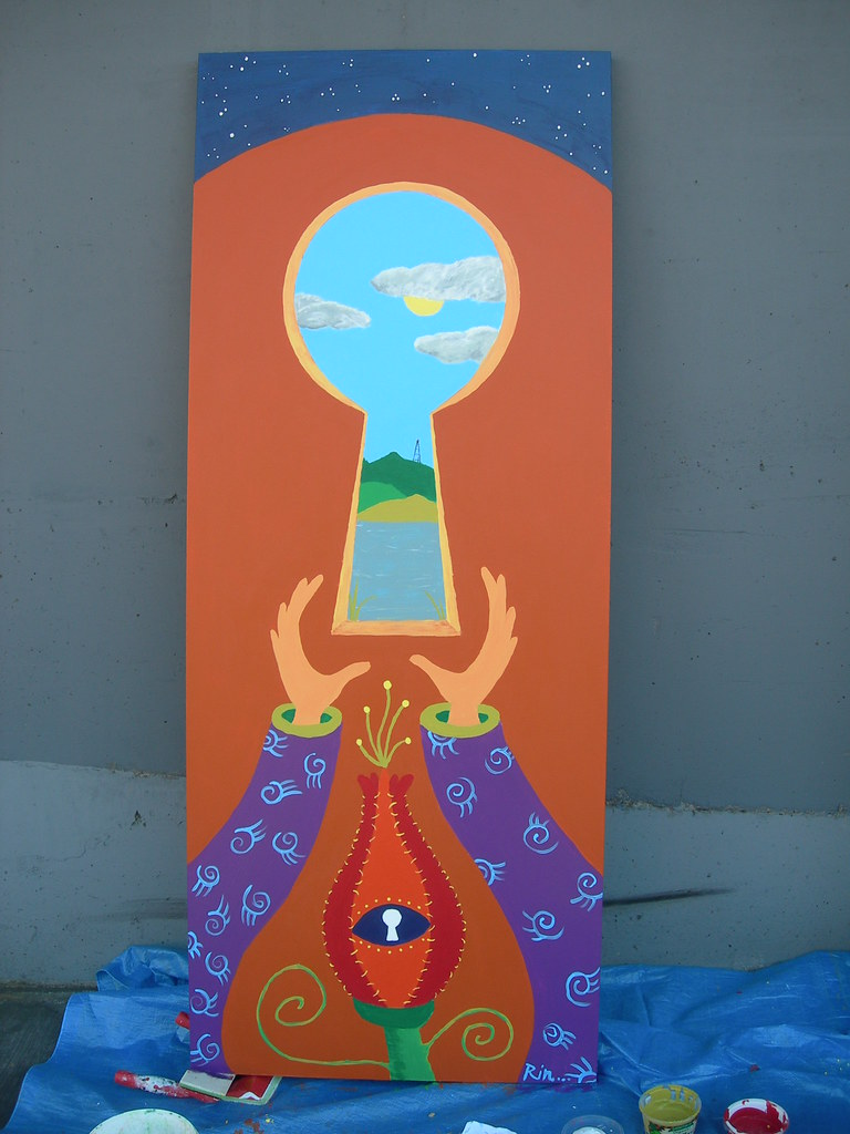Keyhole Door Mural by Rin Carroll Jackson