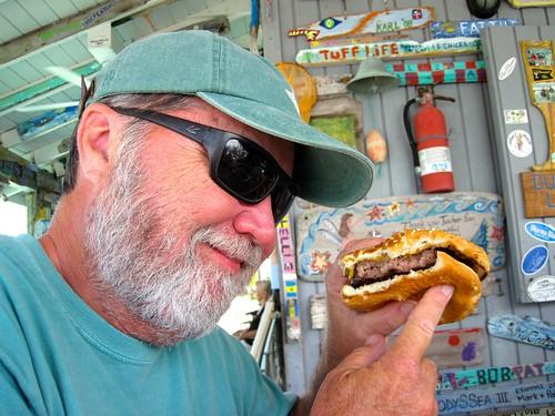 Tucker's famous burger
