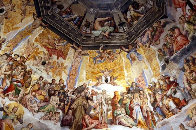Florence Duomo Painting close up