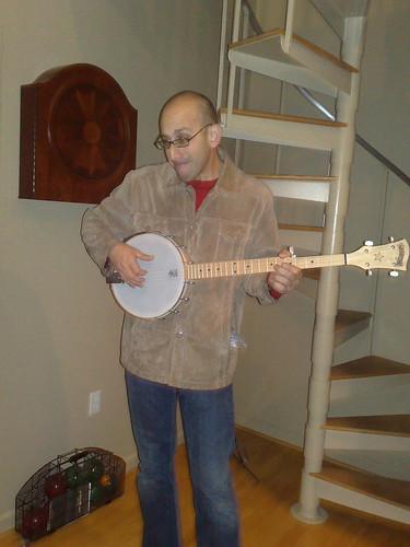 Banjo Playing Geoff Bob Livingston