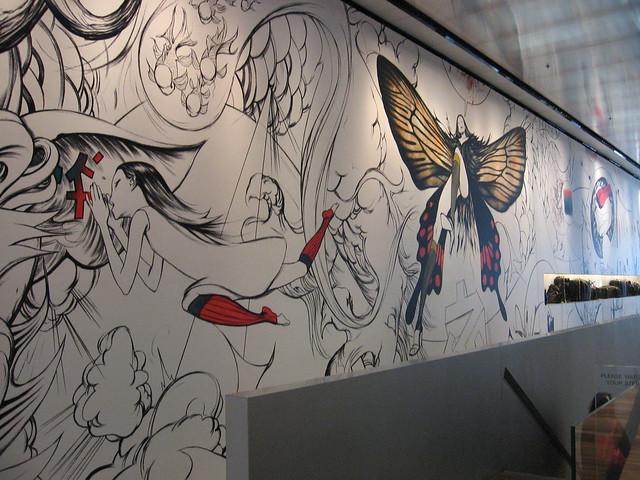James Jean Mural at Prada