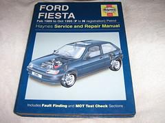 Ford Fiesta Owners Workshop Manual 1989 to 1995 Haynes (Petrol)