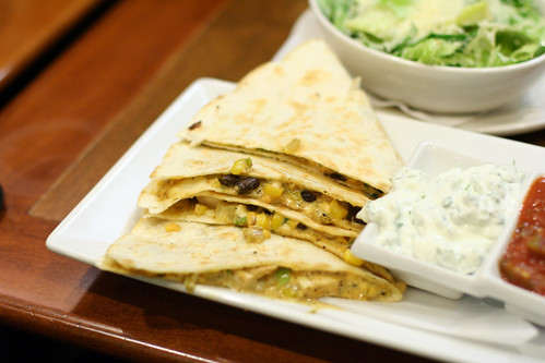 white spot chicken quesadillas