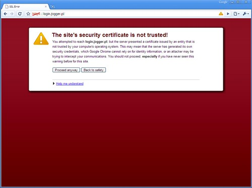 Google Chrome - Bad Certificate