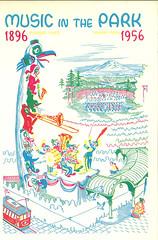 Music in the Park program, 1956