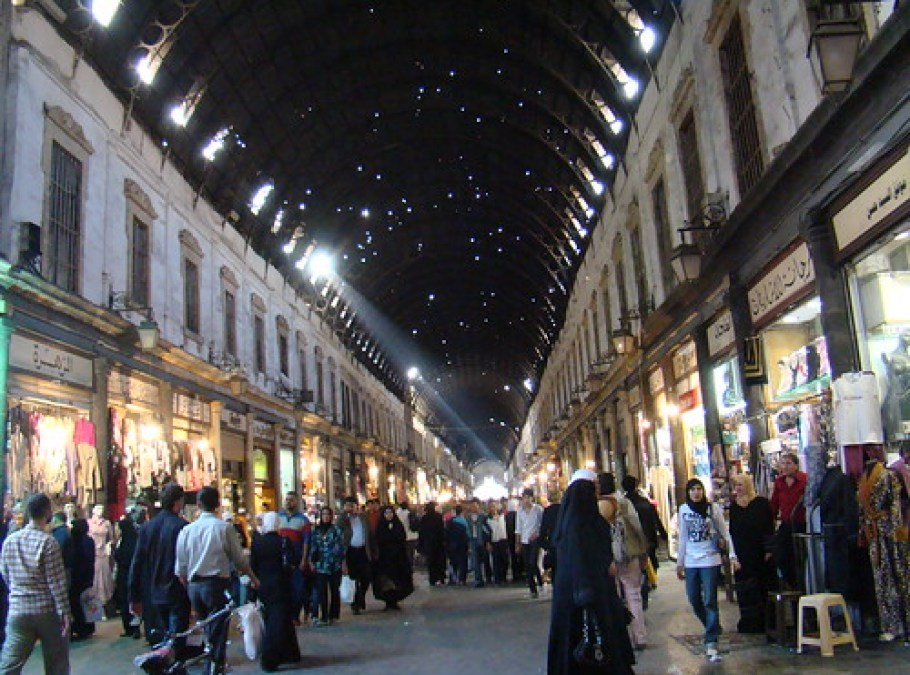 Bazar Al Hamidiya de noche 32 Damasco Siria