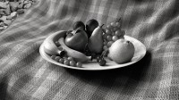 Fruit Bowl Black/White