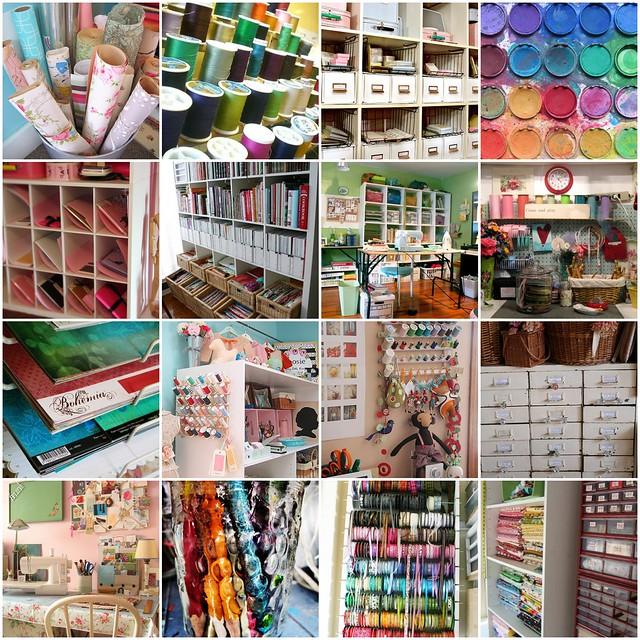 Organized Craft Rooms