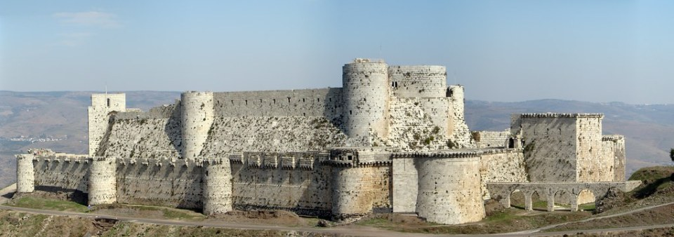 Castillo Crac de los Caballeros Siria 01 panoramica