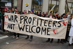 War profiteers not welcome