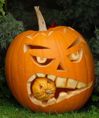 Jack O'Lantern Halloween Pumpkin Head by David Boardman
