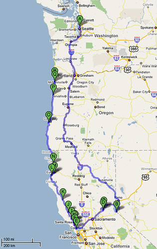 California Road Trip Map