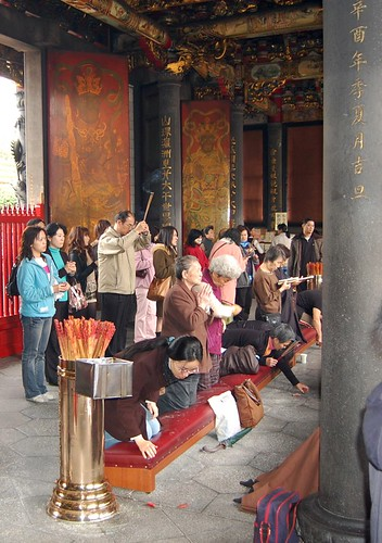 Fortune telling at Chinese temple