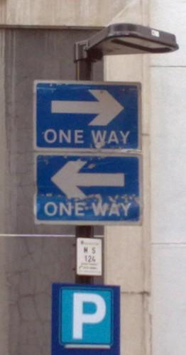 """one way"" one-way oneway twoway two-way ""two way"""