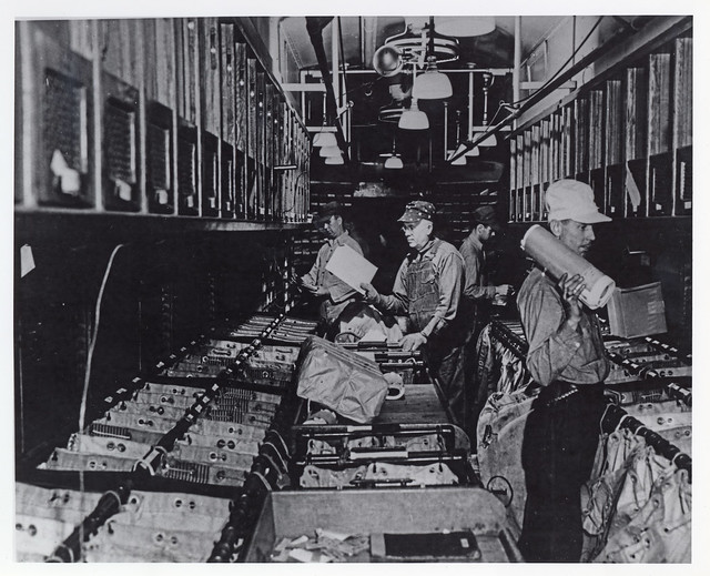 Railway Post Office Clerks at Work