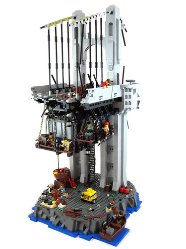 LEGO Lionsgate Bridge post-apoc diorama by tiberium_blue