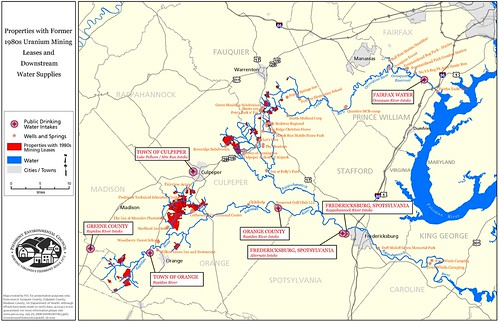 Former Uranium Mining Leases in the Piedmont