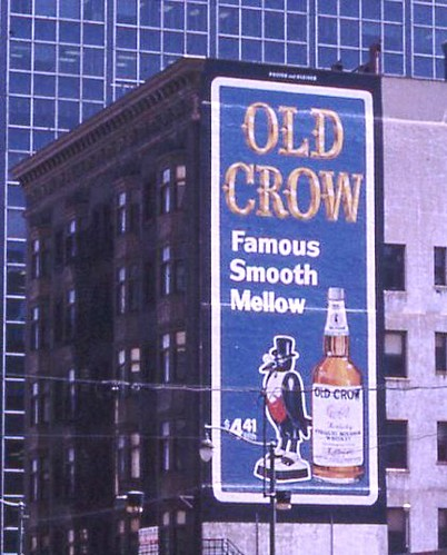 Old Crow Sign 1967 Cleveland OH