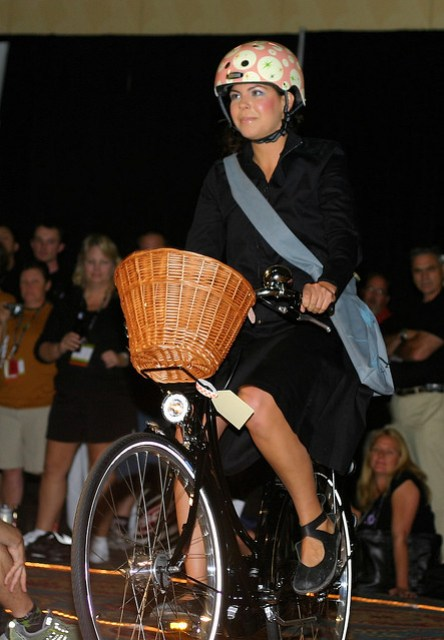 Girl on bicycle: Urban Legends Fashion Show