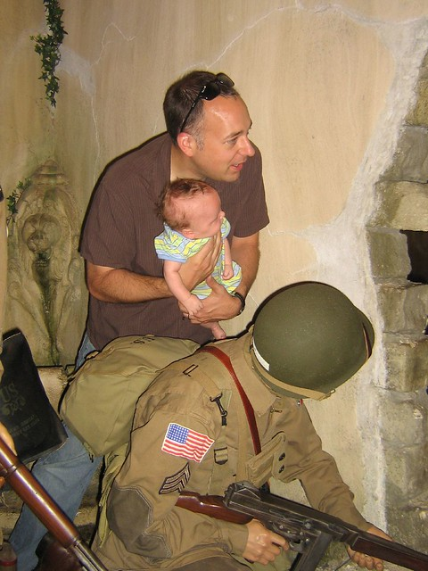 Joe and Daddy in WW2 France