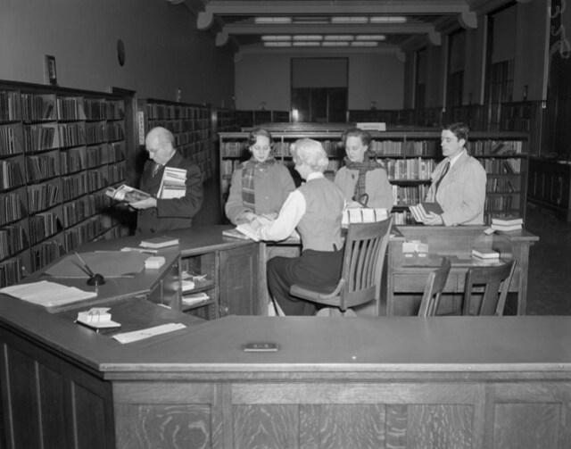 City, public library