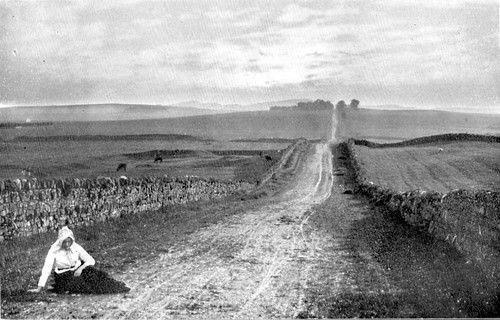 The Military Road at Carrawburgh before tarmac and cars