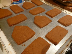 Baked Gingerbread pieces