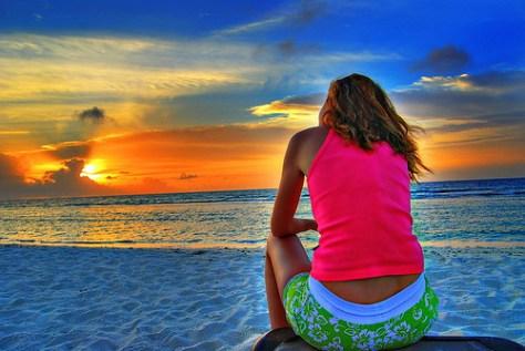 Admiring the sunset
