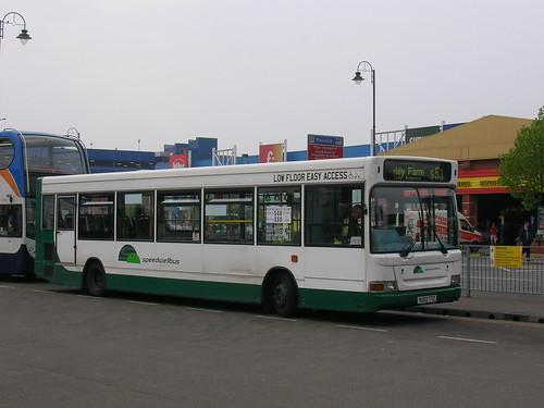 Dennis Dart SLF, SpeedwellBus, VU02 TTZ, Ashton-under-Lyne Bus Station