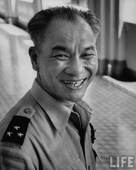 5-1955 Indo Chinese General Le Van Ty smiling after the arrest of a traitor.