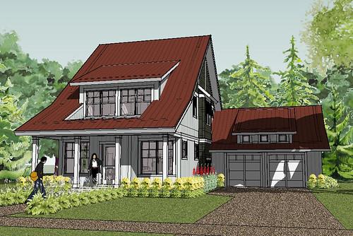Bayport Cottage House Plan Rendering
