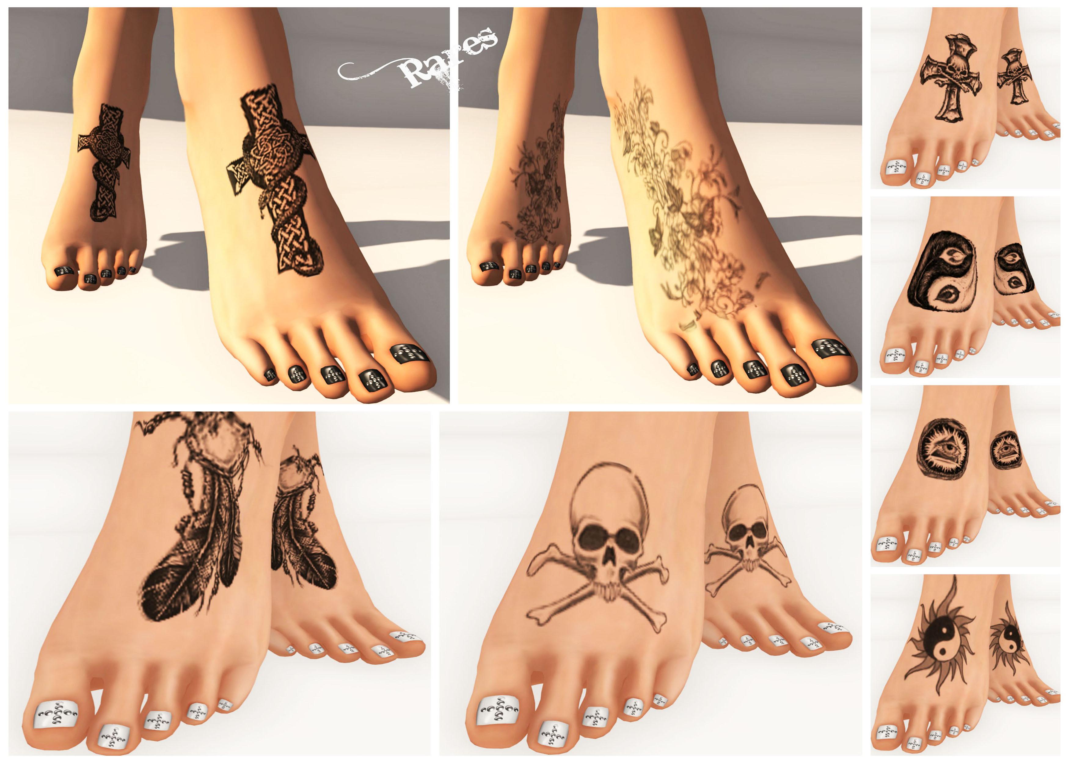 Grunge Feet Tattoos Collage
