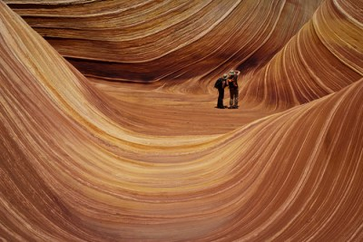 A couple photographing The Wave by thaths, on Flickr