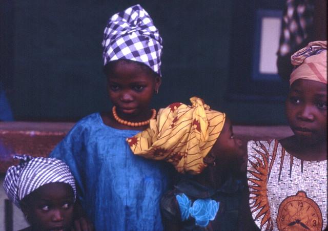 Mandingo girls dressed up for a celebration Kabala