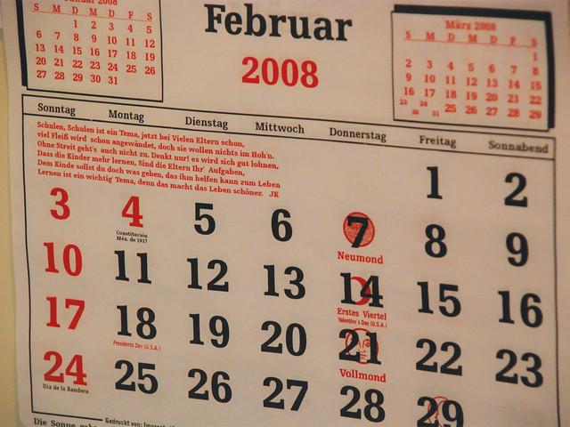 Menonite calendar