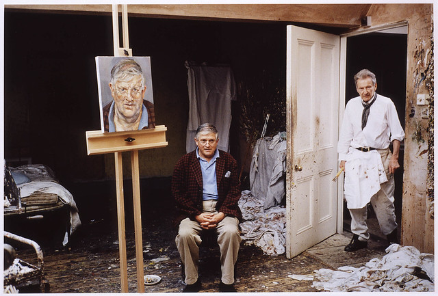 Freud, Lucian (1922- ) in his Studio with David Hockney by David Dawson