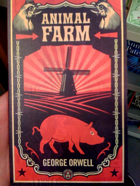 Awesome Canadian cover of Animal Farm  By Shepard Fairey