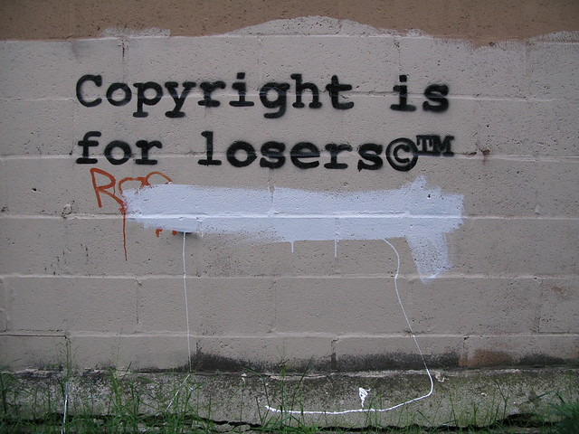 Copyright is for losers by 917press on Flickr Creative Commons