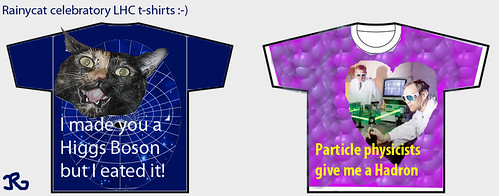 Rainycat celebratory LHC t-shirt designs!