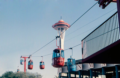 1962 Seattle World's Fair - Space Needle and sky-ride
