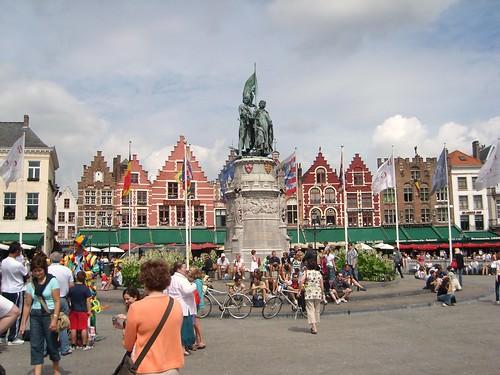 Bruges Market Square Aug 2008