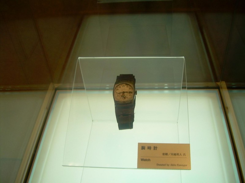 La hora de la bomba atómica de Hiroshima