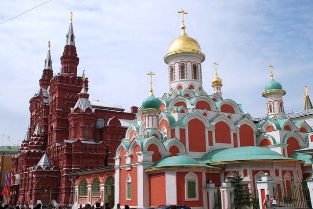 Kazan temple and Historical muzeum