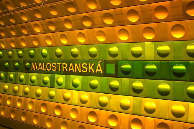 Stanice metra Malostranska, Metro Praha, Mala Strana, Little Quarter, Prague, Czech Republic, fotoeins.com