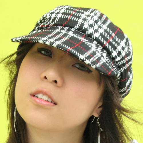 Black & White Checkered Cap