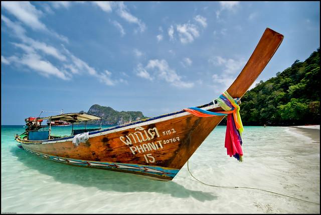 Traditional Thai Long Tail Boat - Koh Phi Phi, Thailand