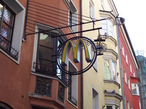 McDonald's Golden Arches in Innsbruck, Austria
