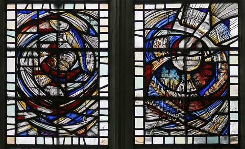 Stained glass, Little St. Mary's, Cambridge by TheRevSteve